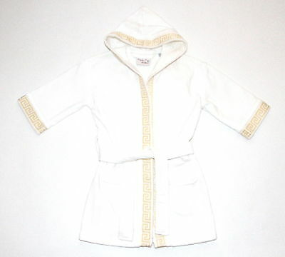 Caesar's Palace Kids' Sz Xs Robe Pool Bath Greek Key Trim Las Vegas Euc