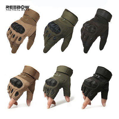 Tactical Military Gloves Protective Hard Knuckle Men Breathable Outdoor Fishing