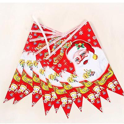Triangle Pennant Flag Christmas Party Supplies Celebration Decors Bunting Banner
