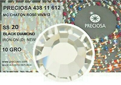 1440 Strass Termoadesivi Preciosa ss20/4.80mm - BLACK DIAMOND