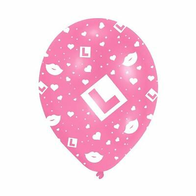6 x 11in L Plate Pink Balloons Hen Night Girls Night Out Party Decorations