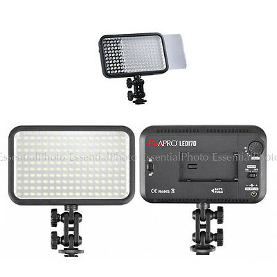 PIXAPRO® On Camera LED170 Continuous Portable Video Lights DSLR DV MicroFilm