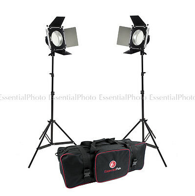 PIXAPRO LED380 with Barndoor Twin Head Kit (2x180cm Light Stand)