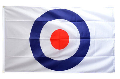 5' x 3' Target Flag Bullseye Practice Mods Scooter Rally The Who RAF Mod Banner