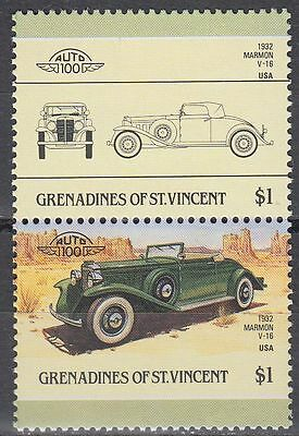 St. Vincent Grenadines 1986 ** Mi.452/53 Autos Cars Marmon [sq6440]