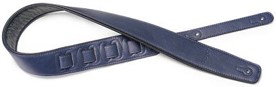 Stagg Padded Leather Guitar Strap Blue