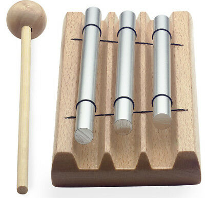 Table Chime Bar Set With Beater - 3 Note
