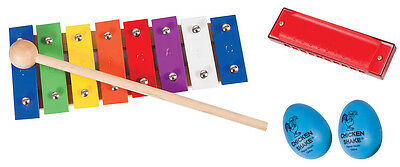 Music Set with Glockenspiel, Shakers and Harmonica