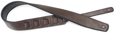 Stagg Padded Leather Guitar Strap Dark Brown