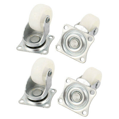 """Chair Furniture Trolley Carts 1.2"""" 30mm PP Wheel Swivel Top Plate Caster 4pcs"""