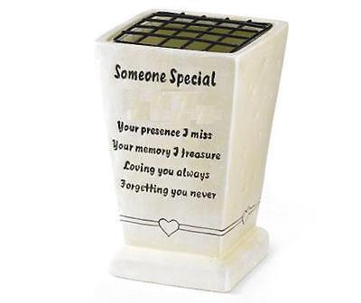 Someone Special Memorial Grave Vase Verse Remembrance Plaque Graveside Ornament