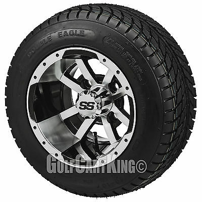 """Storm Trooper"" Mach/Black 10"" Low Profile Tire/Wheel Combo-Non Lifted Golf Cart"