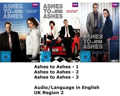 ASHES TO ASHES COMPLETE SERIES 1 + 2 + 3 DVD SET Brand New Sealed UK Release Box