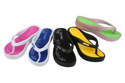Women's  Flip Flops Sandals Slip-On Thongs Beach Pool Casual Cushioned Slippers