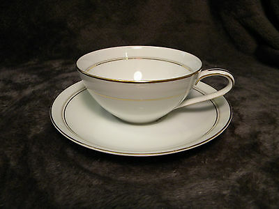 Noritake Daryl Cup And Saucer Rare Vintage Antique Fine China Rose 5510