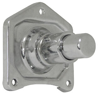 Chrome Solenoid Cover Starter Push Button for Harley