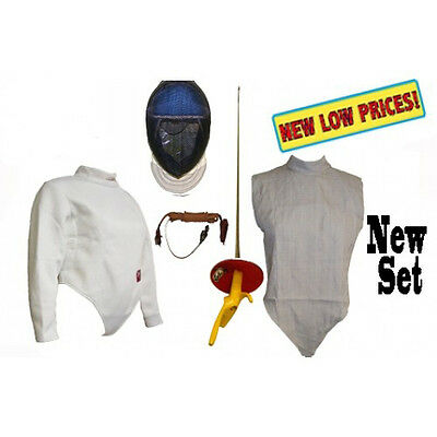 6 PC Electric foil Set: Mask, Jacket, Body Cord, Lame, Mask Cord, Foil P.G.