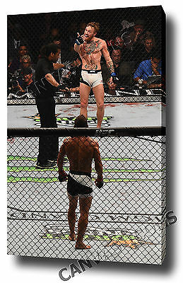 Conor Mcgregor Canvas Print Poster Photo Wall Art 2015 Ufc Mendes Ko Ufc 189 .