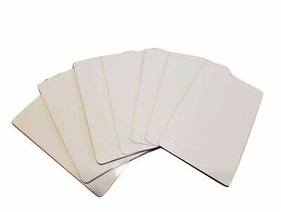 "50 Pieces BUSINESS CARDS - ALUMINUM  SUBLIMATION BLANKS 2"" x 3.5"" / new"