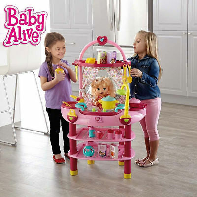 Baby Alive 3 in 1 Cook and Care Set Kids Girls Doll Pretend Play set Toys NEW