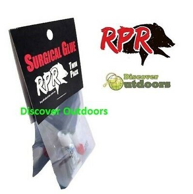 NEW RPR Surgical Glue Emergency FOR Hunting Trip TWIN PACK First Aid