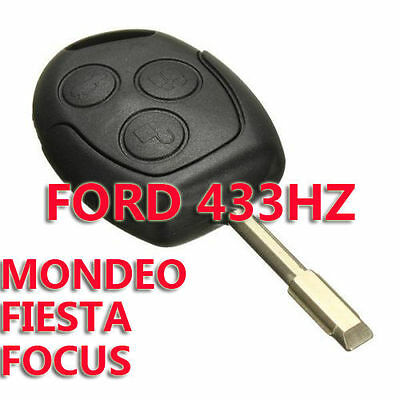 3 Button Remote Entry Key 433 Mhz Fob For Ford Mondeo Fiesta Focus Ka Transit K2