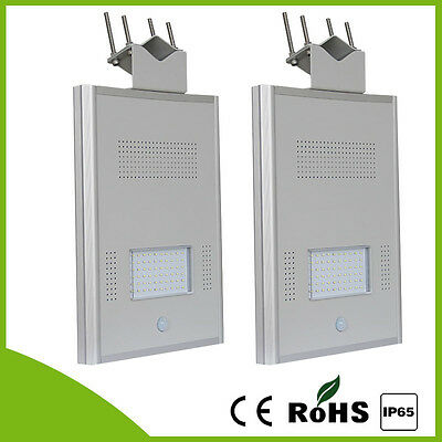 2pcs  20W Solar panel Outdoor 10W LED Street Solar light Driveway Lamp Sensor