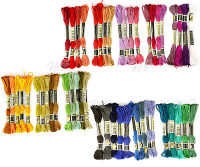 50pcs Embroidery Thread Cross Stitch Floss Sewing Skeins 100% Cotton Wholesale