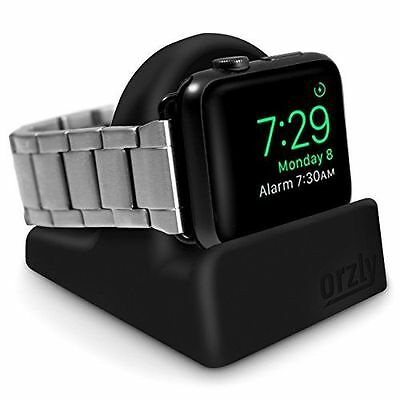 NEW Orzly Night-Stand for Apple Watch with Slot for Concealing Cable, Black