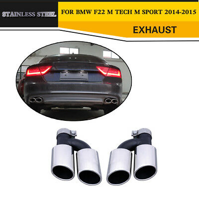 Stainless Steel S7 Style Rear Exhaust Tip Muffler End Pipe Fit for Audi A7