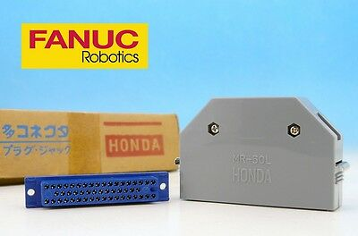 SET MR-50F + MR-50L 50 pin Female + Case Cover HONDA Japan CONNECTOR FANUC CNC