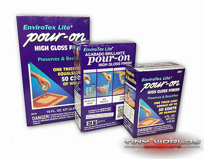 Envirotex Lite 16oz High Gloss Epoxy Pour on Resin - Varnish Water Effects Craft