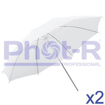 "Phot-R Professional 2x 43""/109cm Translucent White Studio Collapsible Umbrella"
