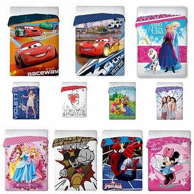 Kinder Bettüberwurf 160x200 Disney Frozen Cars Minnie Winnie The Pooh Spiderman