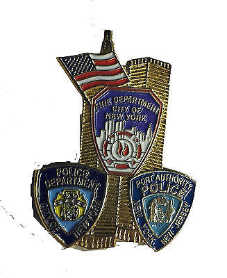 9-11 Commemorative Gold Twin Towers - Tri Patch - New ***SPECIAL SALE***