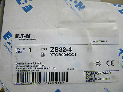 Eaton ZB32-4 Overload Relay 2.4 - 4 Amps NEW!!! in Factory Box Free Ship