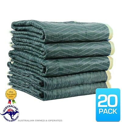 20 x Furniture Protection Moving Blankets Removalist Pads Burlap Padded Blanket