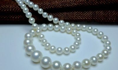 "18"" AAA 8-9mm Natural south sea white pearl necklace"