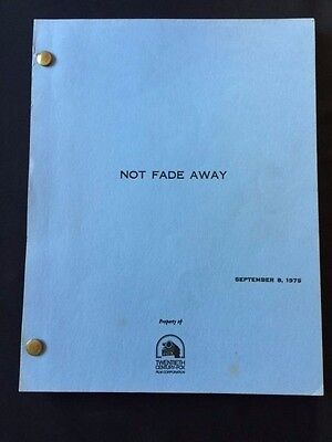 Not Fade Away: Revised Shooting Script