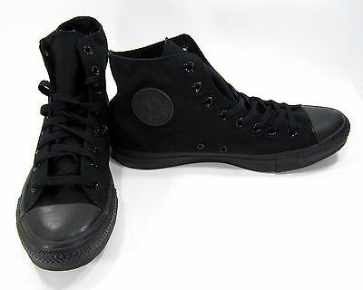 Converse Shoes Chuck Taylor Hi All Star Black Sneakers Size 9.5