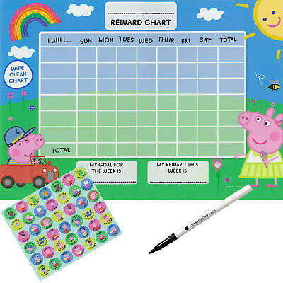 Reusable Childrens potty training Reward chart Free stickers & pen sun