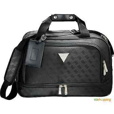 Black Guess Signature Travel Carry-on Weekend Trip Business Laptop Compu-Tote