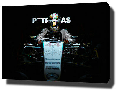 Lewis Hamilton Canvas Print Poster Photo Wall Art Mercedes Formula 1 F1