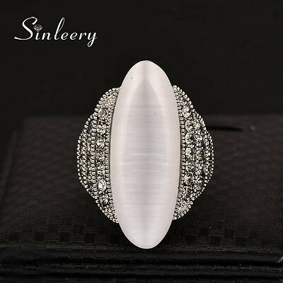 Vintage Jewelry Shuttle Big Agate Brand Rings Women Wedding Promise Ring 2017