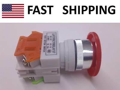 INDUSTRIAL controls EMERGENCY shut off switch push button - max 660V 10A - SHOP