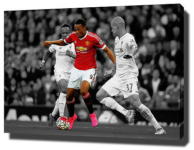 Anthony Martial Canvas Art Print Poster Photo Manchester Wall Art Man Utd United