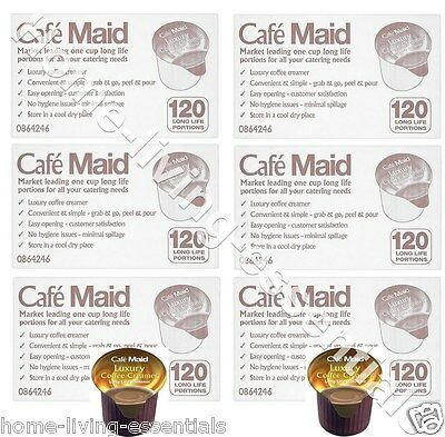 Cafe Maid Luxury Coffee Creamer Pots Long Life Milk 720 Individual Portions