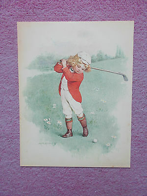 Golf Print - Small Child