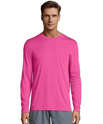 9004aa1b HANES COOL DRI Performance Men's Long-Sleeve T-Shirt (482L) - $11.50 ...