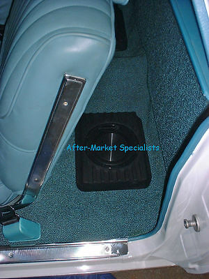 Custom Autosound Undercover II 2   Under Seat Hide Away Speakers Shallow Mount